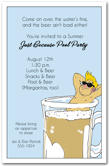 beer bather party invitation
