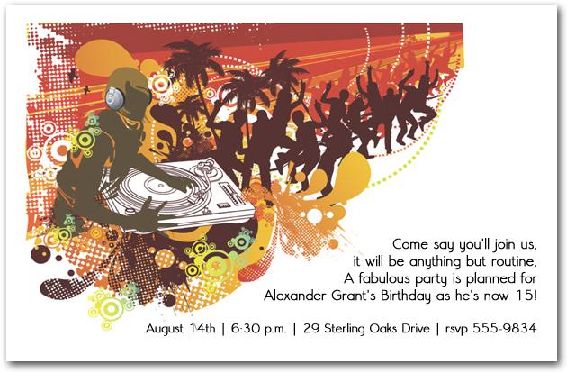 dj summer party invitation announcingit com blog