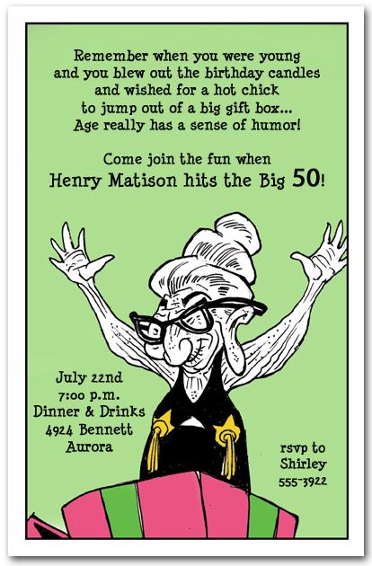 Geezer Surprise Birthday Party Invitation Blog