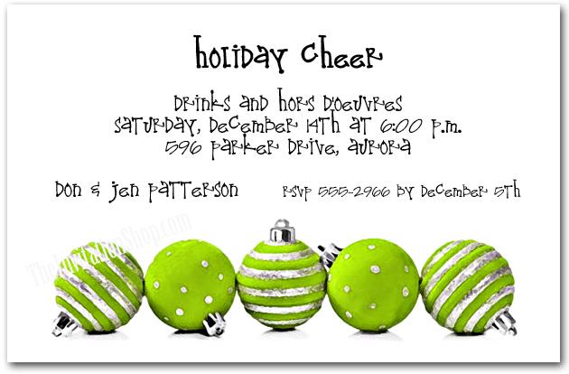 Lime Green Ornaments Holiday Invitations Announcingit Com Blog