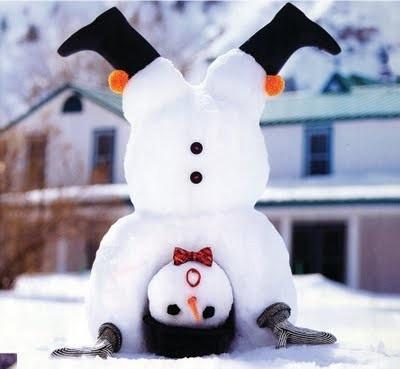 Fun Upside Down Snowman