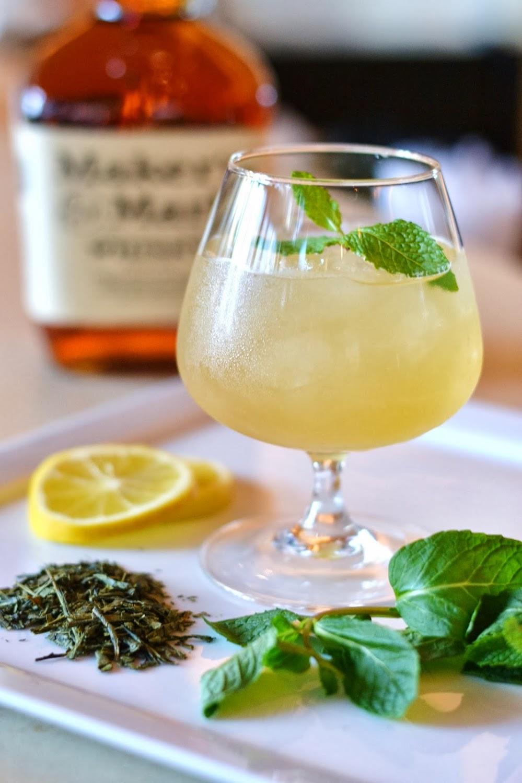 Mardi Gras Bourbon Green Tea Cocktail