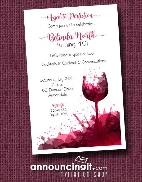 Wine Splashes Party Invitations Announcingit Com