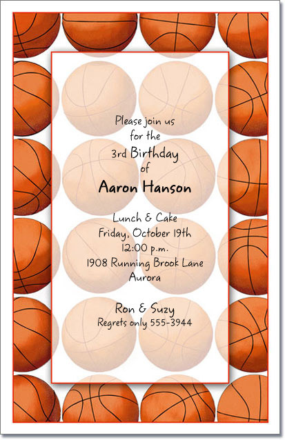 Basketball Party Invitations, Basketball Invitation ...