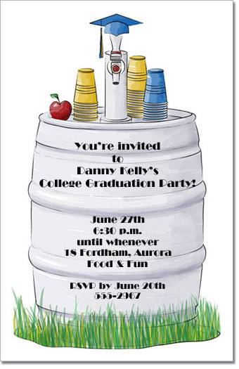 graduation beer keg party invitation graduation party invitations