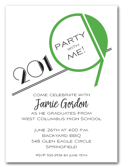 Art Deco Green 2019 Graduation Party Invitations