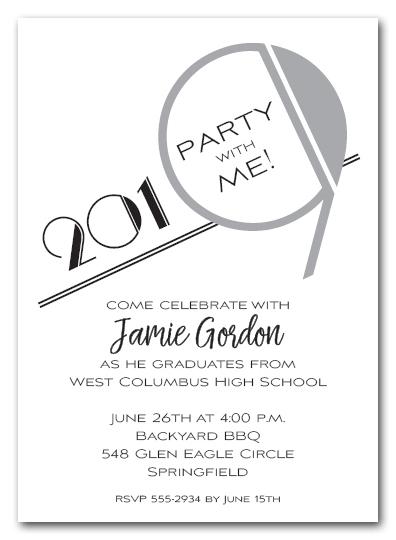 silver art deco 2019 graduation party invitations