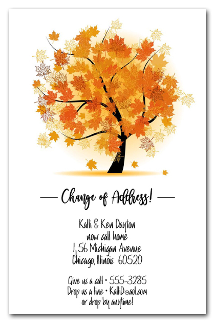 Autumn Maple Tree Moving Announcements