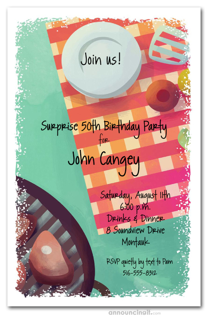 Barbecue is Ready Party Invitations