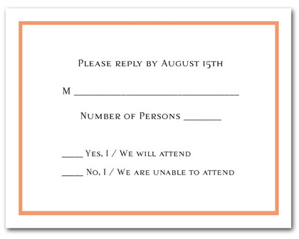 Celosia Orange Border RSVP Card #8