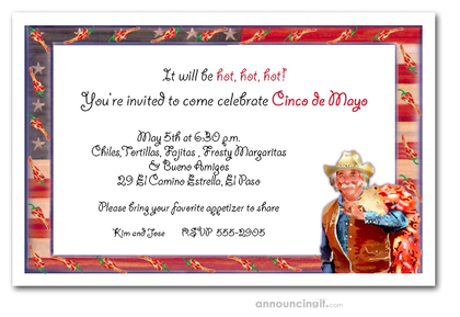 Chili Pepper Man Invitations