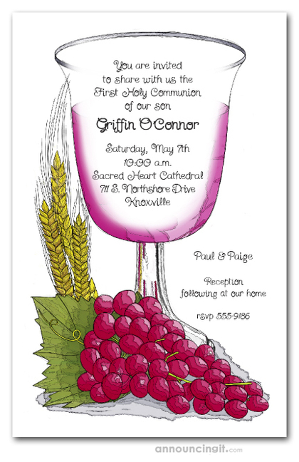 First Communion Cup Invitations