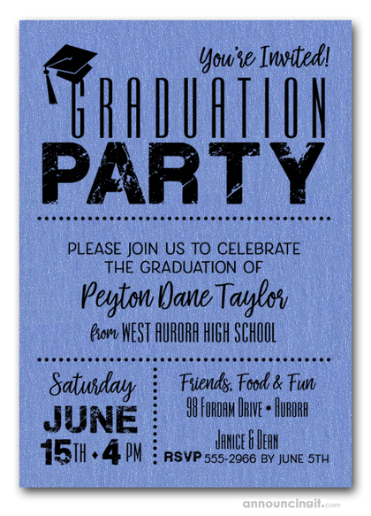 Shimmery Blue Dotted Graduation