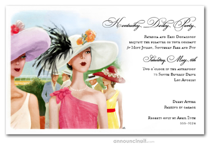 Derby Elegance Horse Race Invitations