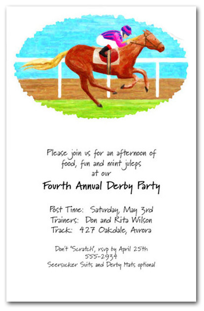 Finish Line Horse Racing Invitations, Kentucky Derby Party ...