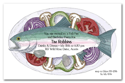 Fish Dinner Party Invitations