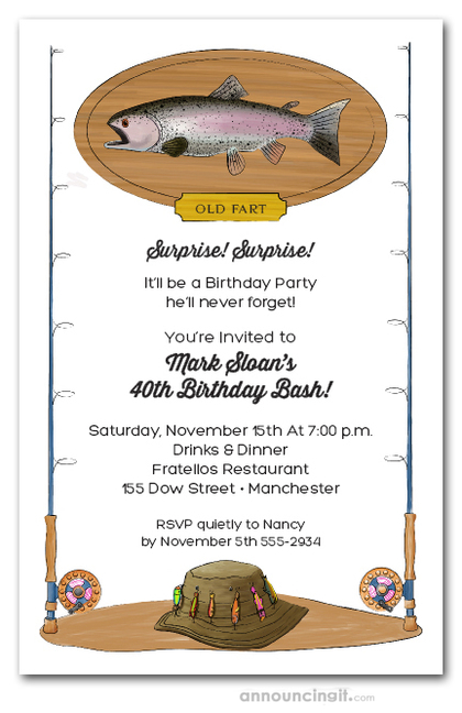 Fish on a Plaque Party Invitations