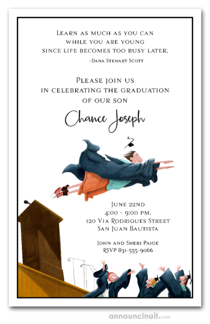 Flying High Graduation Party Invitations