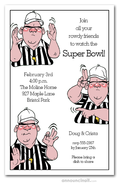 Refree Signals Super Bowl Invitations