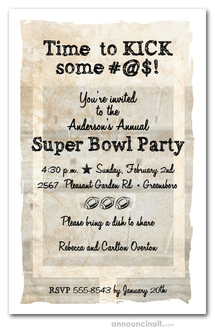 Football Uprights Super Bowl Party Invitations