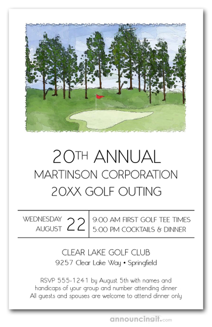 The Pin Golf Outing Invitations