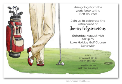 Golf Outing Retirement Invitations