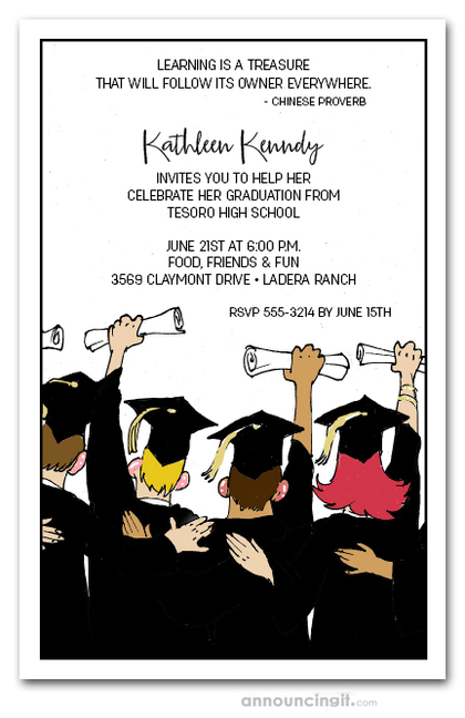 Friends Graduation Party Invitations