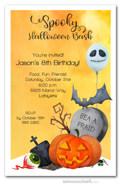 Halloween Corner Party Invitations