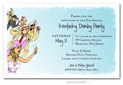 Horse Racing Crowd Invitations
