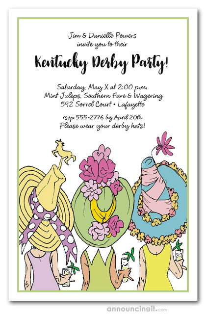 Derby Day Hats Party Invitations