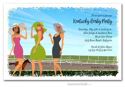 Ladies at the Track Invitations