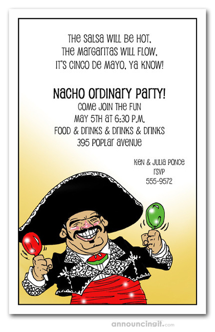 Mariachi Guy Party Invitations
