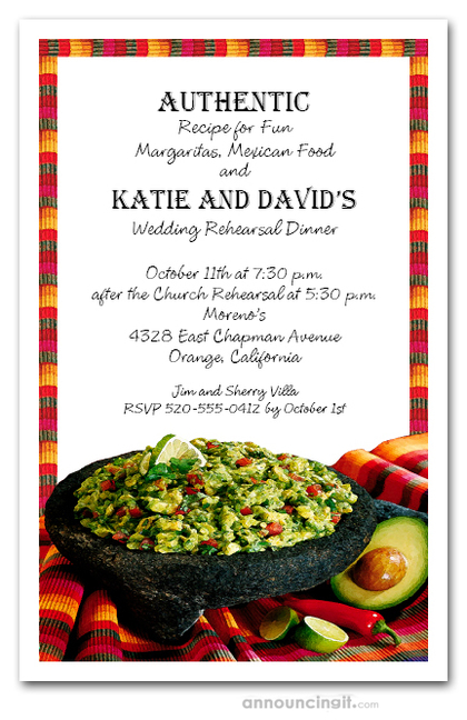 Fiesta Guacamole Mexican Invitations Cinco De Mayo
