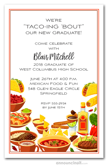 Fiesta Buffet Graduation Invitations