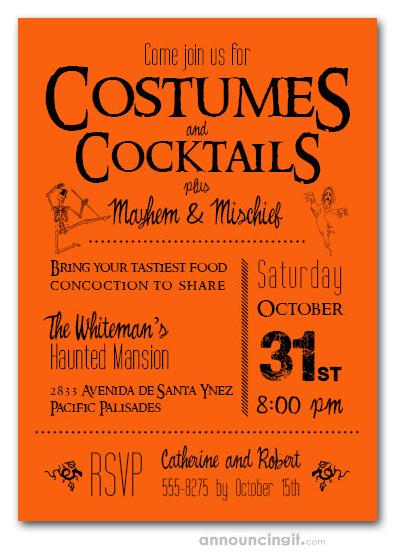 mischief halloween party invitations