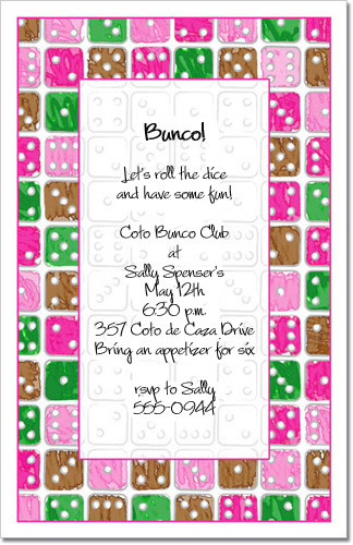 Roll the Dice Party Invitations