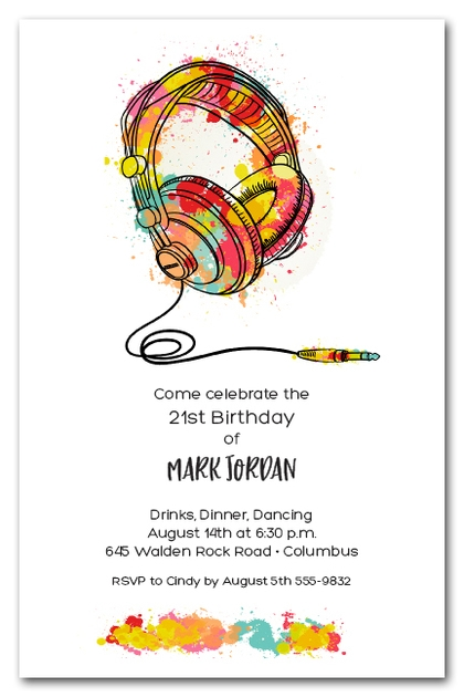 Plug in the Headphones Invitations