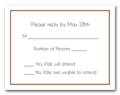 Nutmeg Border RSVP Card #8
