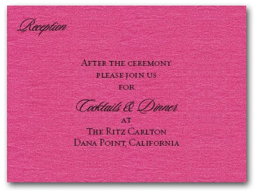 Shimmery Hot Pink Info Cards