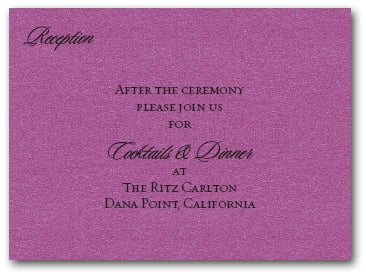 Shimmery Purple Info Cards