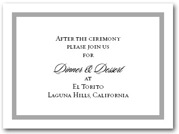 Reception Card Silver Border #5