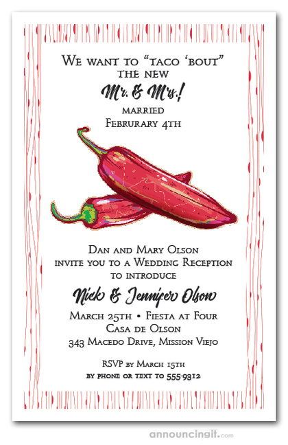Red Hot Peppers Party Invitations