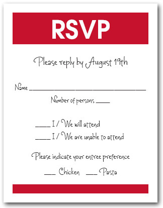 White & Red RSVP Card #3