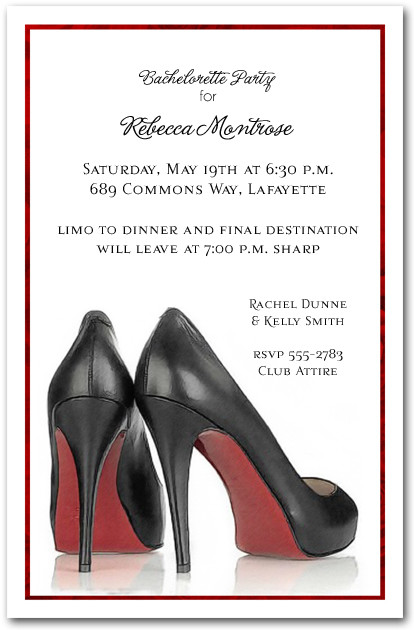 Red Sole Heels Invitations