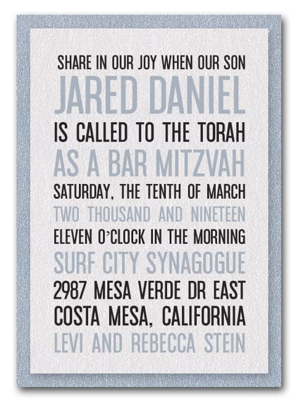 Shimmery White & Silver Bar Mitzvah