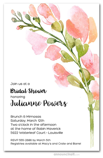 Spring Buds Bridal Shower Invitations