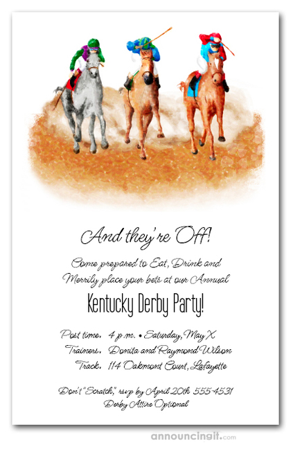 The Finish Horse Race Invitations