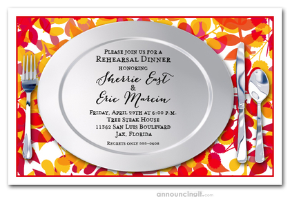 Vibrant Vines Fall Placemat Invitations