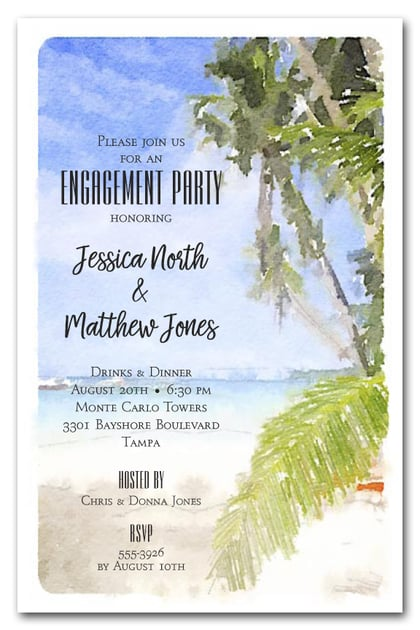Watercolor Beach Invitations