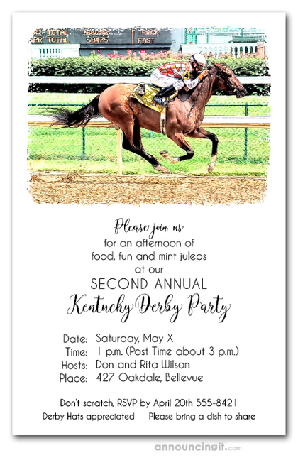 Winning Ride Horse Racing Invitations